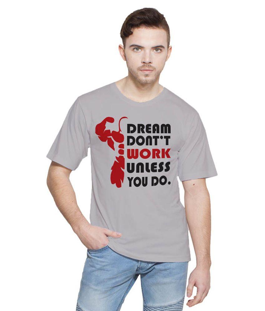 Printing Geeks Grey Round T Shirt