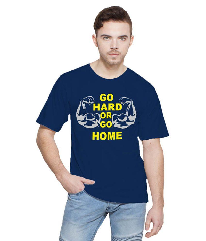 Printing Geeks Navy Round T Shirt