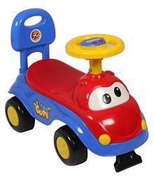 EZ' PLAYMATES CUTE CAR KIDS RIDE-ON RED/BLUE