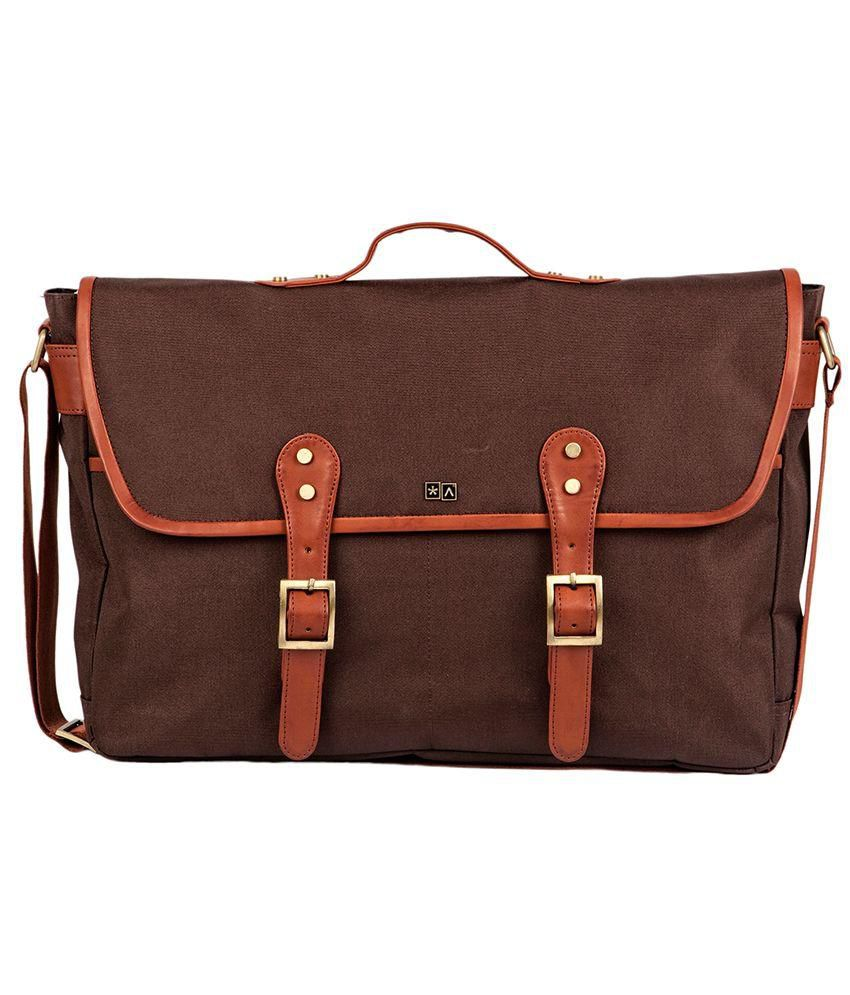 Atorse Brown Messenger Bag