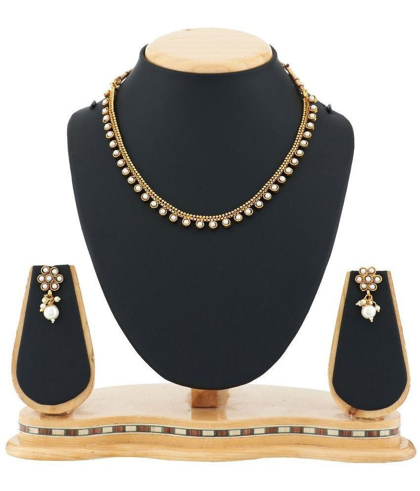 Satyam Jewellery Nx Golden Contemporary Copper Necklaces Set