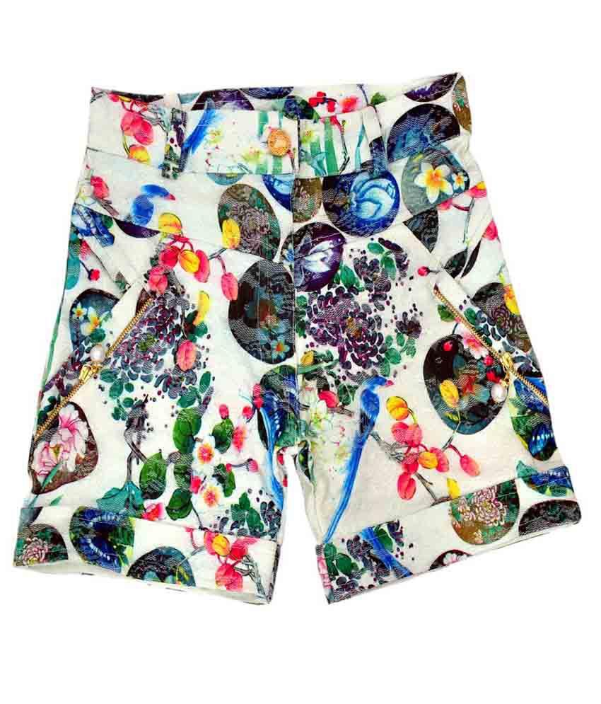 Titrit Multicolour Cotton Shorts
