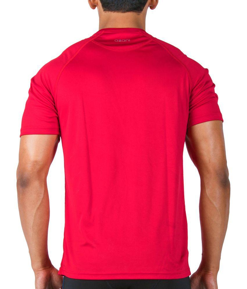 Azani Men's Sub-Zero Tech Short Sleeve T-Shirt Crimson Red
