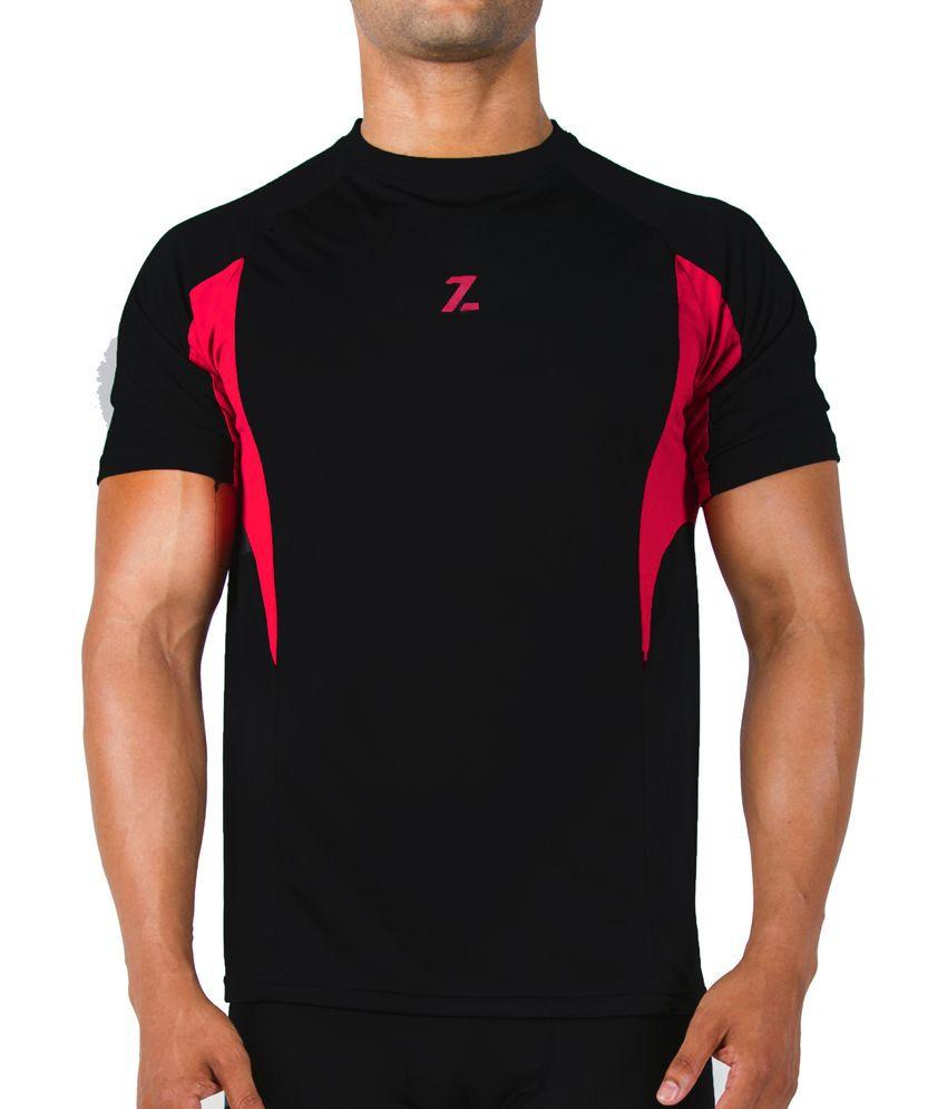 Azani Men's Sub-Zero Tech Short Sleeve T-Shirt Black/Crimson Red