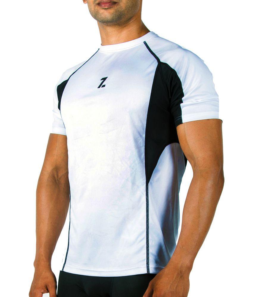 Azani Men's Sub-Zero Tech Short Sleeve T-Shirt White/Black