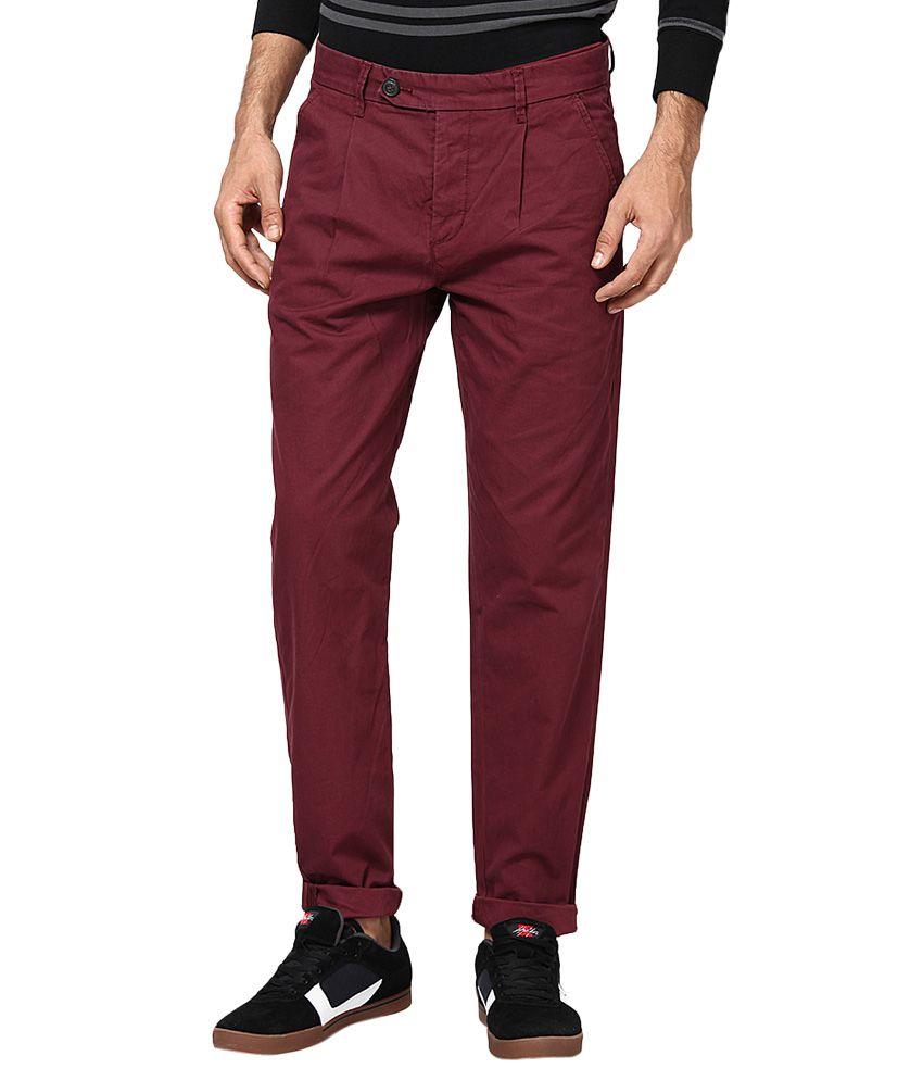 Jack & Jones Purple Slim Fit Trousers