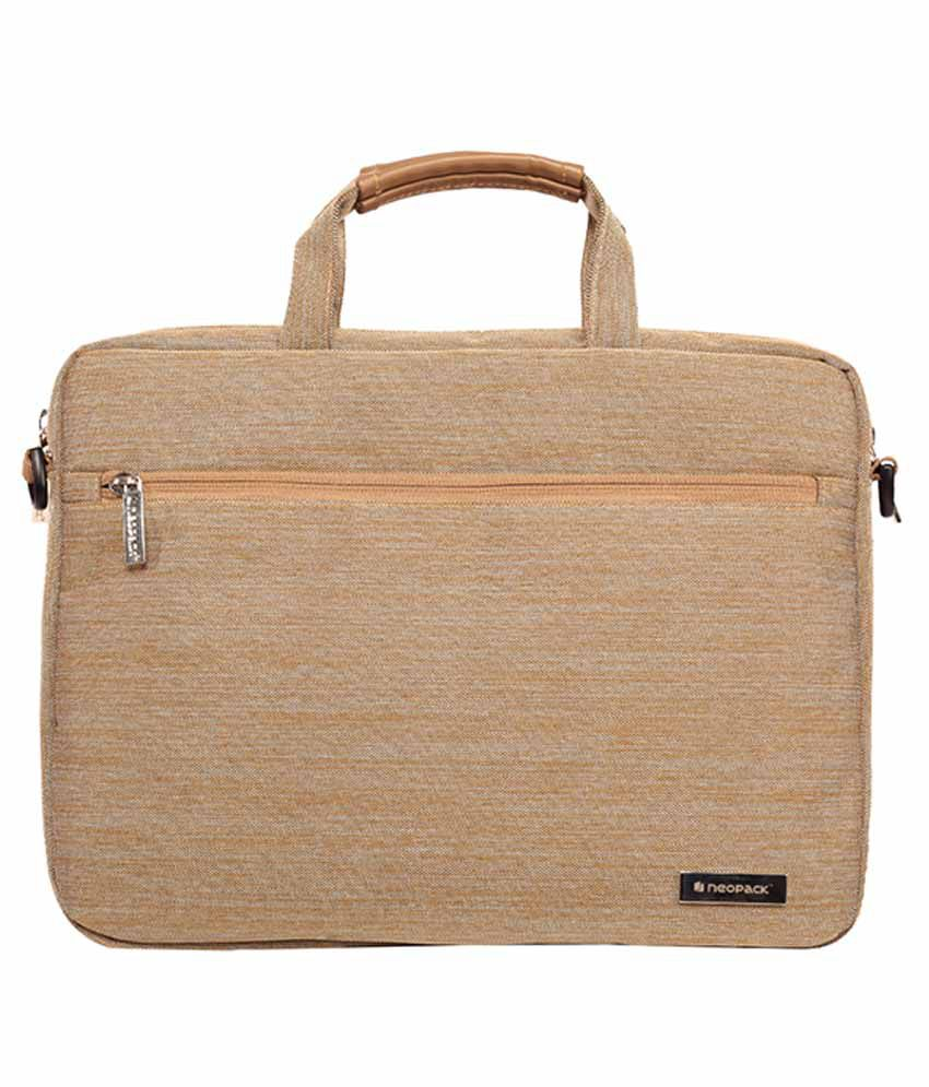 Neopack Canvas Pro Beige Fabric Laptop Sleeve