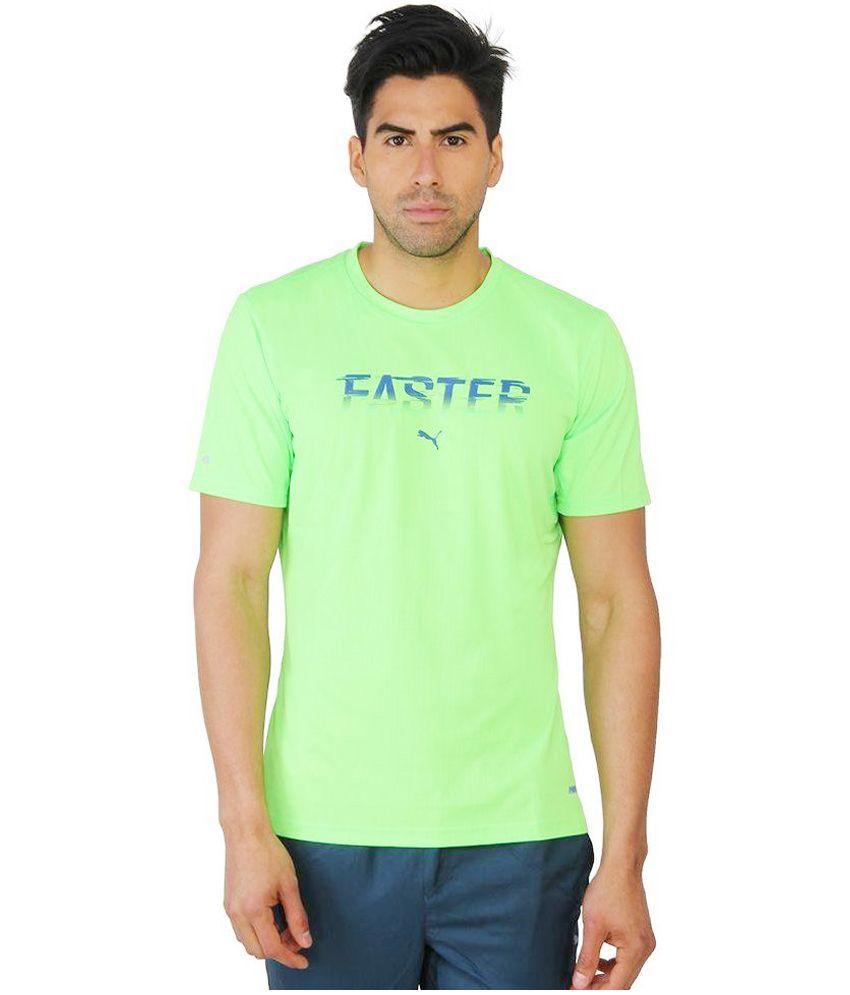 Puma Green Round T Shirt
