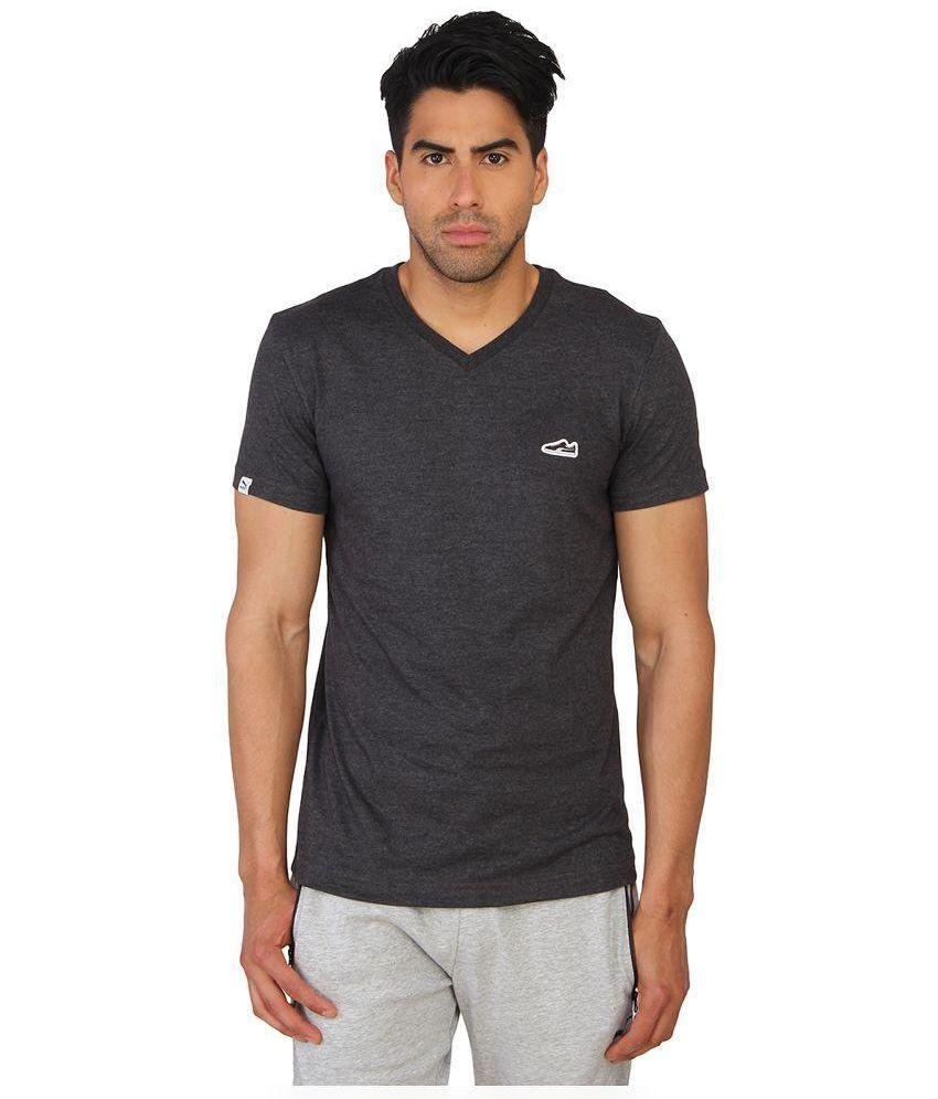 Puma Grey Cotton T-Shirt