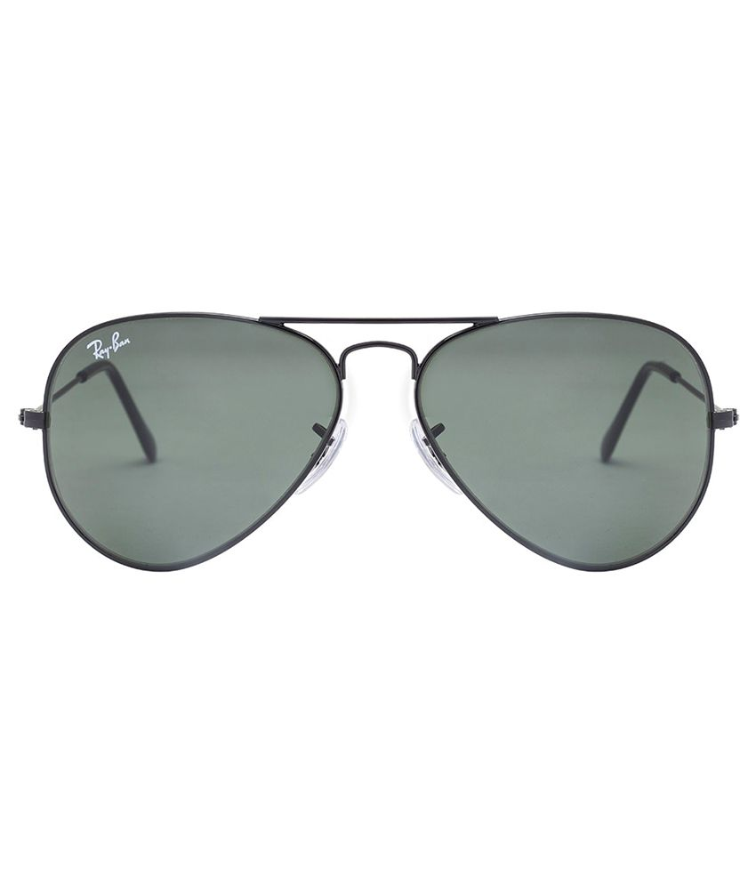 aviator ray ban rb3025  Ray-Ban Green Aviator Sunglasses (RB3025 0025 55-14) - Buy Ray-Ban ...
