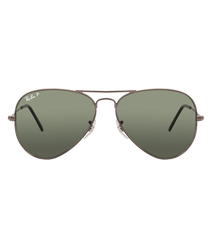 cheap polarized ray bans  Ray-Ban Green Polarized Aviator Sunglasses (RB3025 004/58 58-14 ...