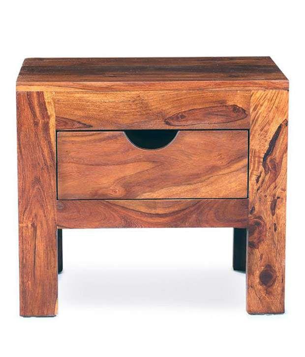 Smart Choice Sheesham Wood Single Drawer Bedside Table