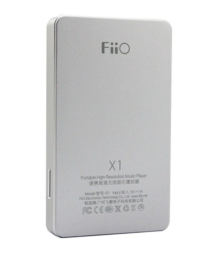 Fiio X1 Portable High Resolution Lossless Music Player - Silver (Without  In-Built Memory)
