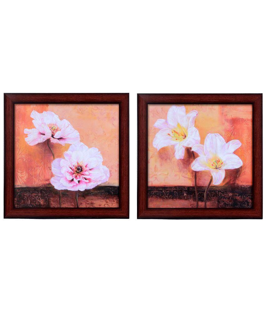 Elegant Arts & Frames Floral Wooden Wall Frame - Set of 2
