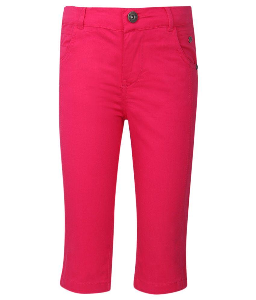 FS MiniKlub Pink Solid Capris
