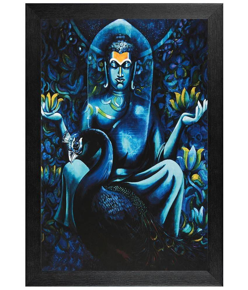 JAF Abstract Buddha Matt UV Painting with Textured Frame