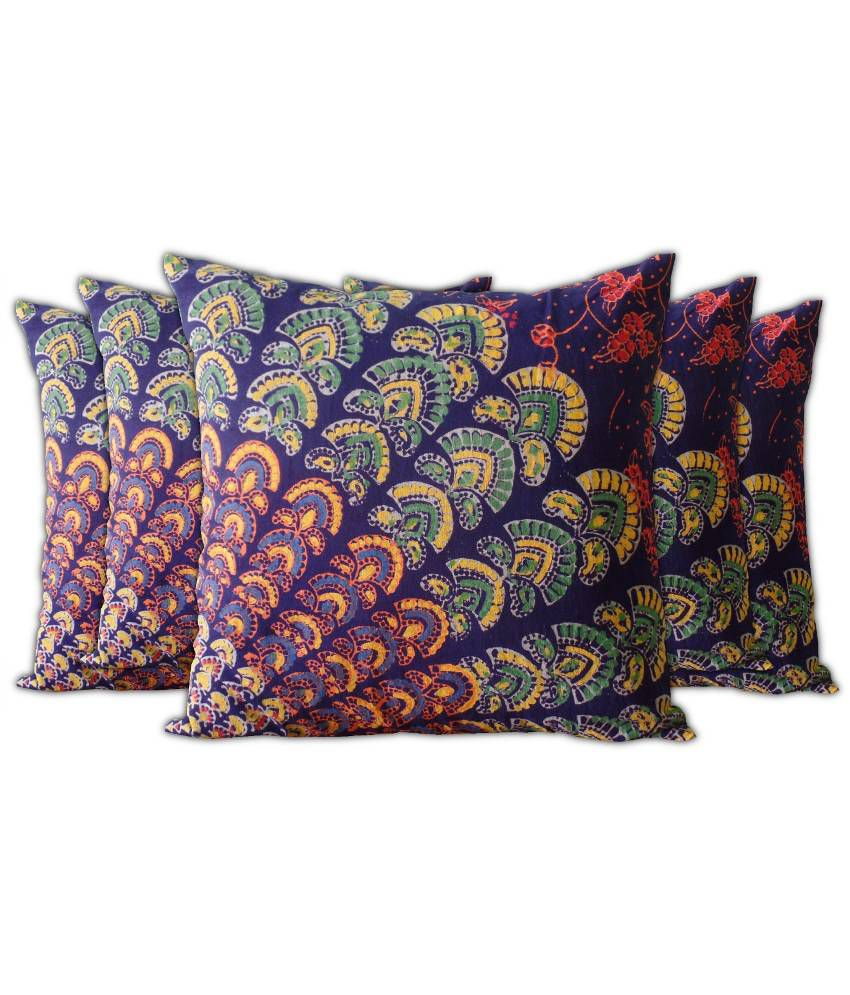 Jaipur Classic Multicolour Cotton Cushion Covers - Pack of 5