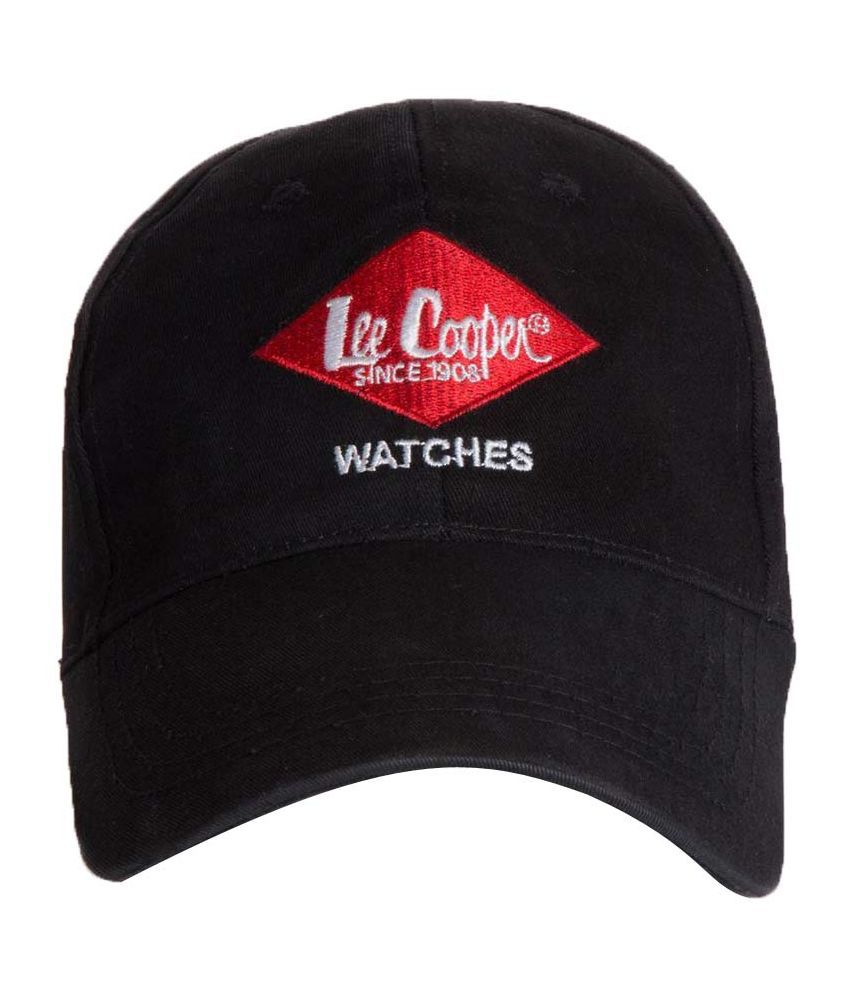 Lee Cooper Black Cotton Baseball Cap For Men s. - Buy Online   Rs ... 90b1519c632