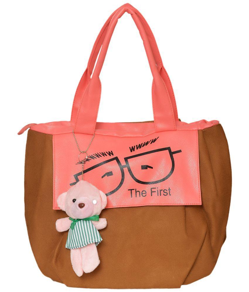 Rehan's Brown Faux Leather Shoulder Bag