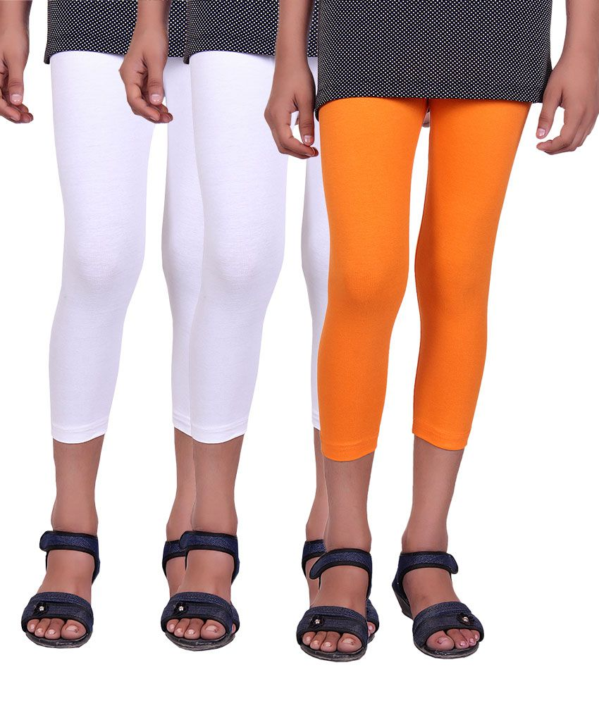 Alisha Cotton Lycra Kids Capri