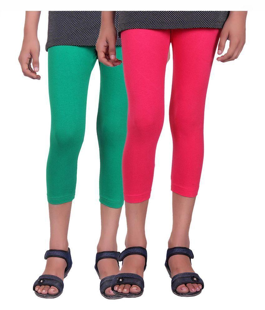 Alisha Multicolour Cotton Capris - Pack of 2