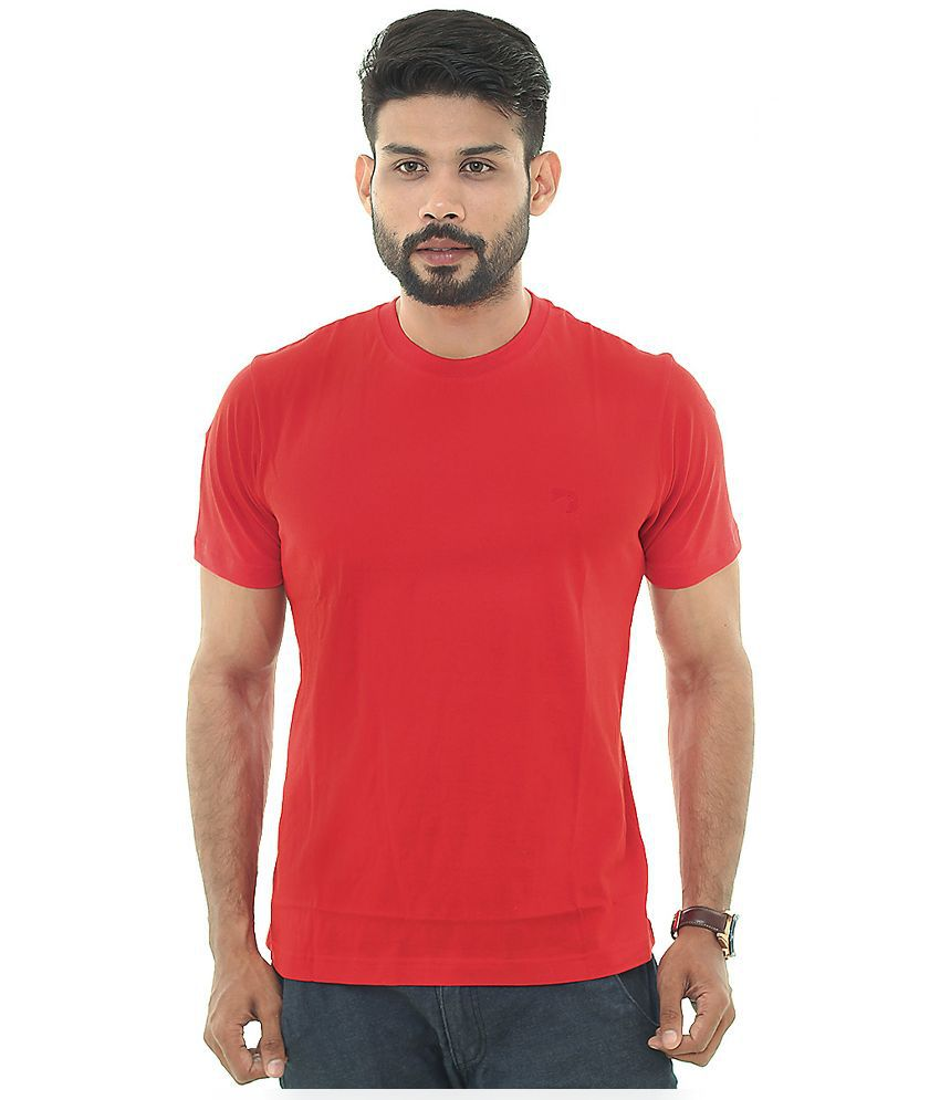 Descript Red Round T Shirt