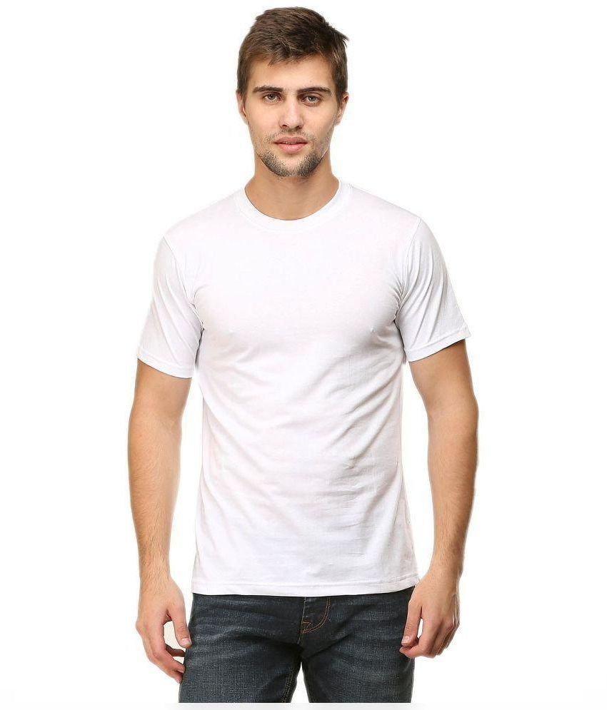 APPEARL CLOTHING White Round T Shirt