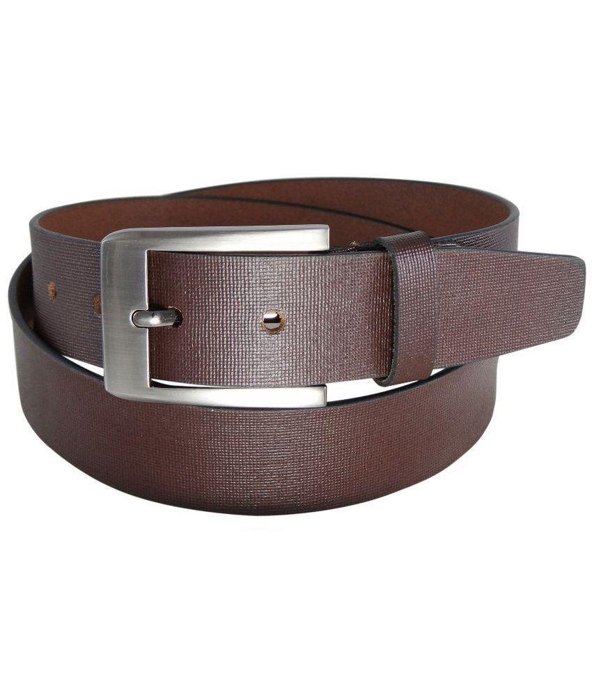REBO Brown Leather Belt