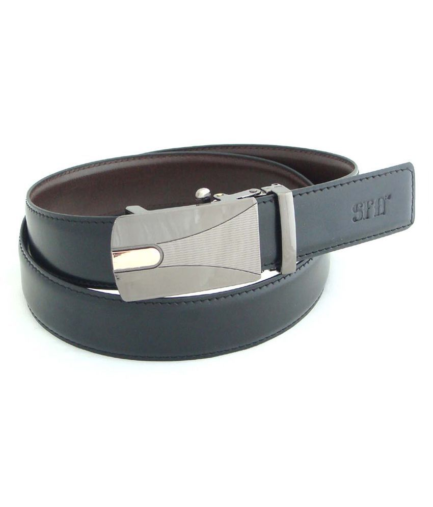 SFA Black and Brown Reversible Belt for Men