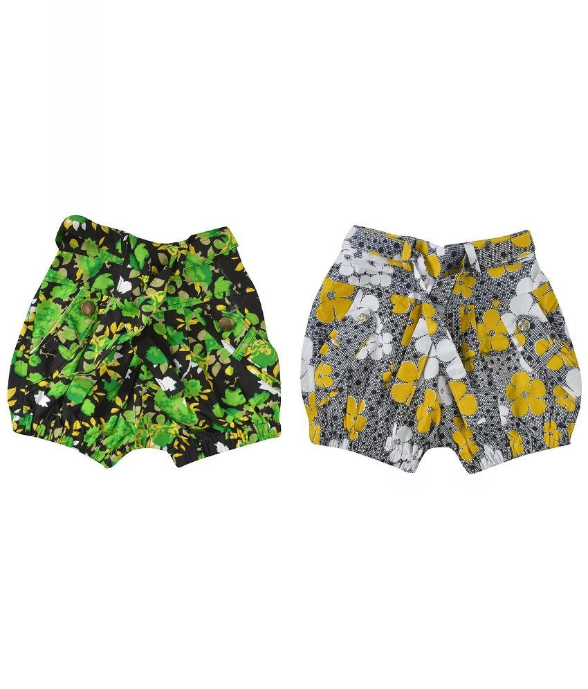 Shreemangalammart Multicolour Shorts - Pack of 2
