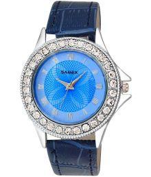 Samex Blue Leather Analog Watch For Women