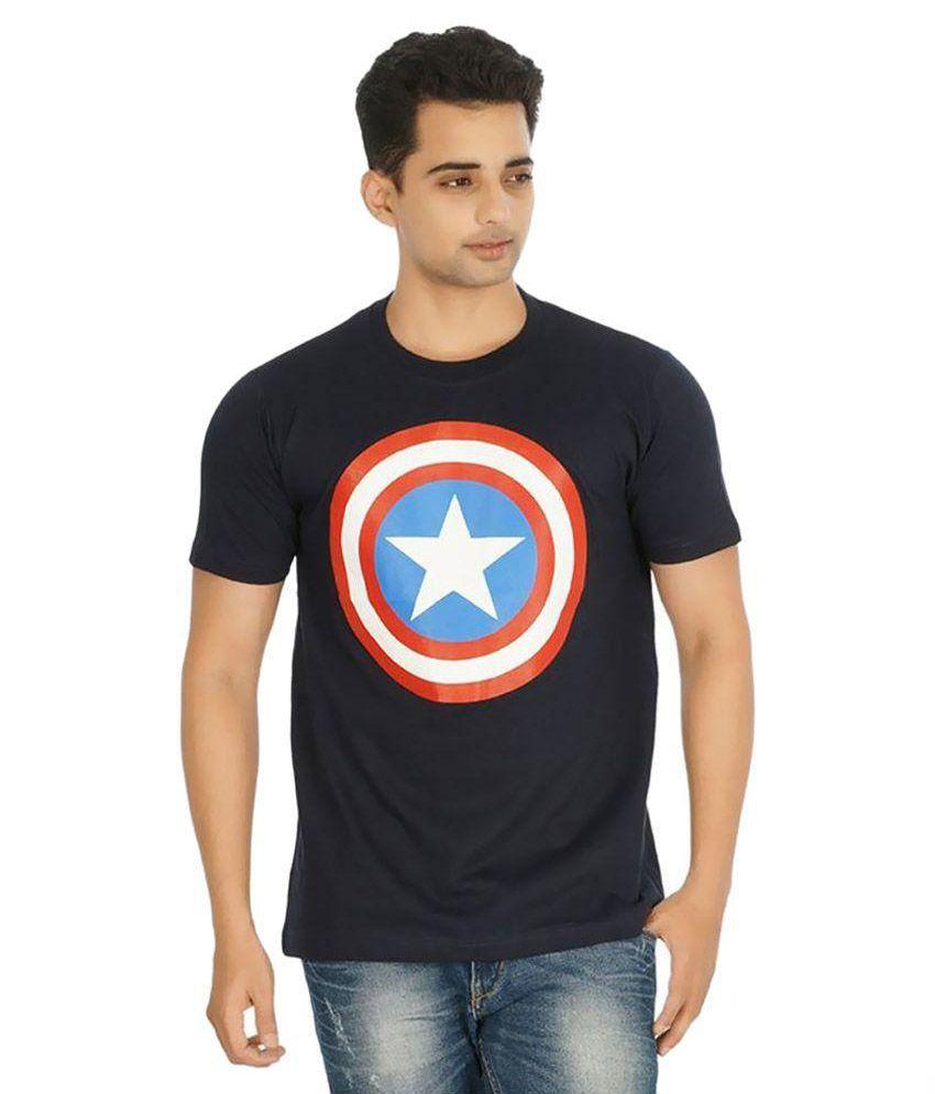 A4Attitude Navy Round T Shirt
