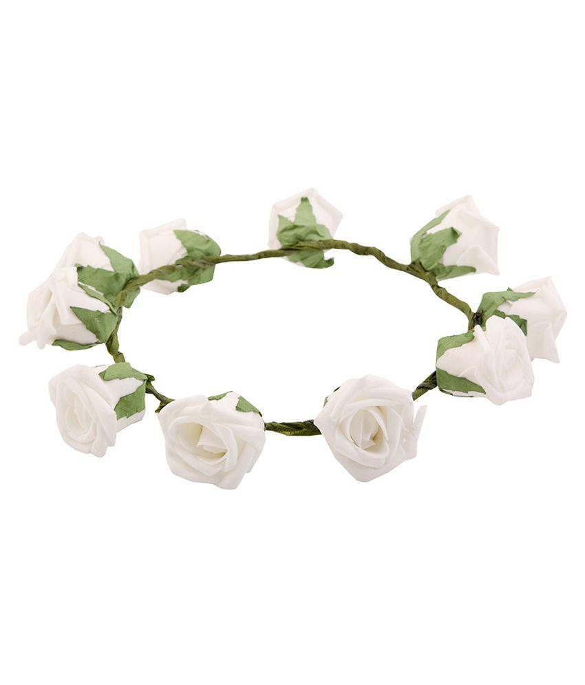 Sanjog white rose gorgeous flower tiara buy online at low price in sanjog white rose gorgeous flower tiara mightylinksfo