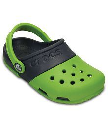 Crocs Roomy Fit Green Clog For Kids