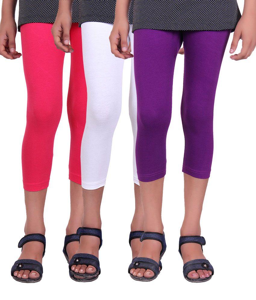 Alisha Multicolor Cotton Capris - Pack of 3