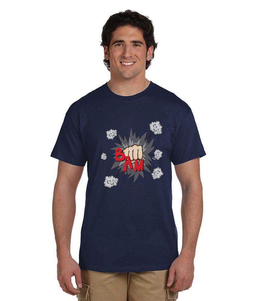 Haunting Dragons Navy Round T Shirt