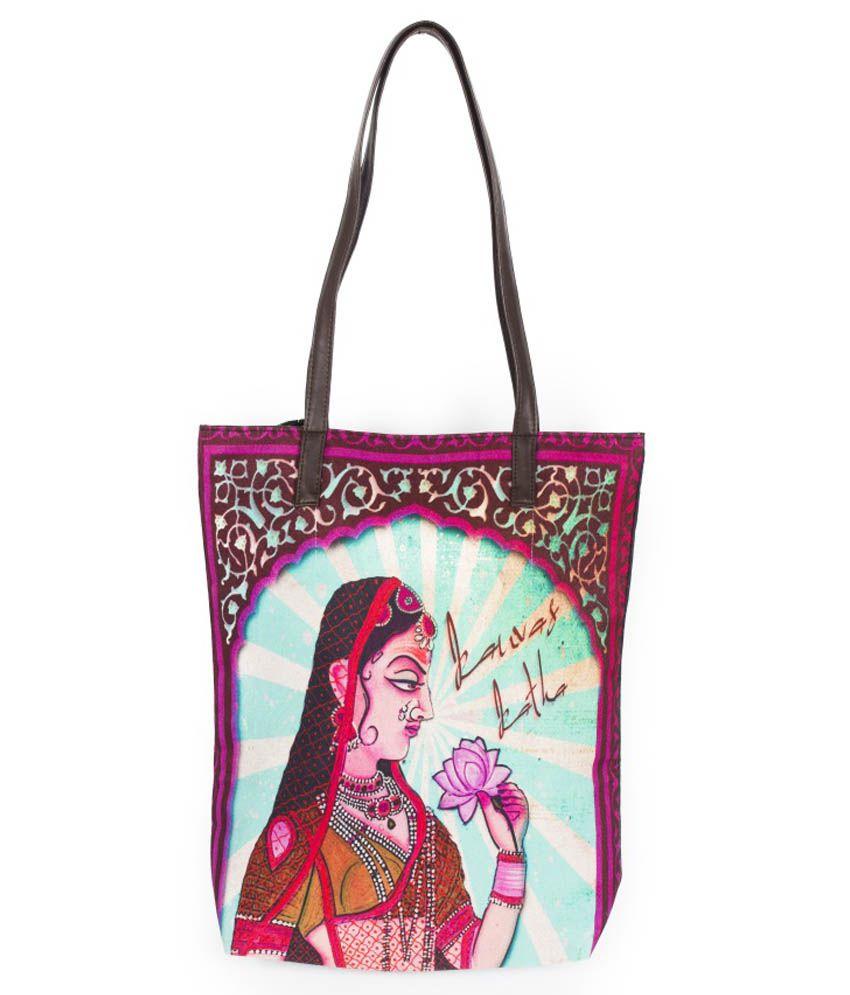 Kanvas Katha Purple Canvas Tote Bag