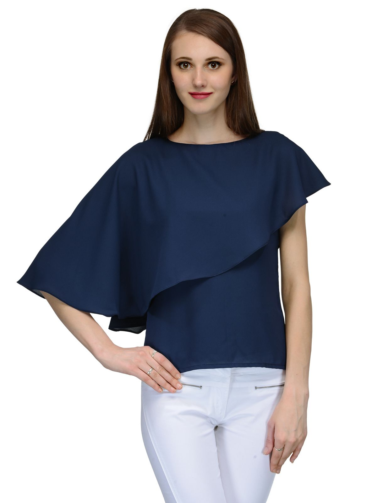 6ae73c90d17c4e Natty India Navy Georgette Tops - Buy Natty India Navy Georgette Tops Online  at Best Prices in India on Snapdeal