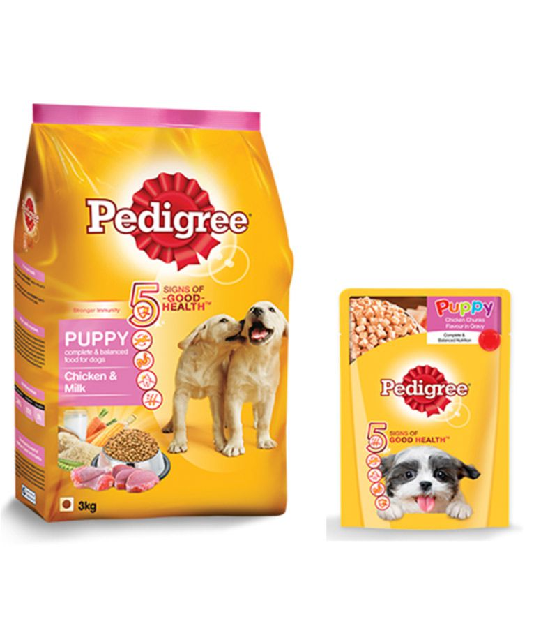 Pedigree Puppy Dog Food Combo Meal Pack 3kg 3kg Chicken