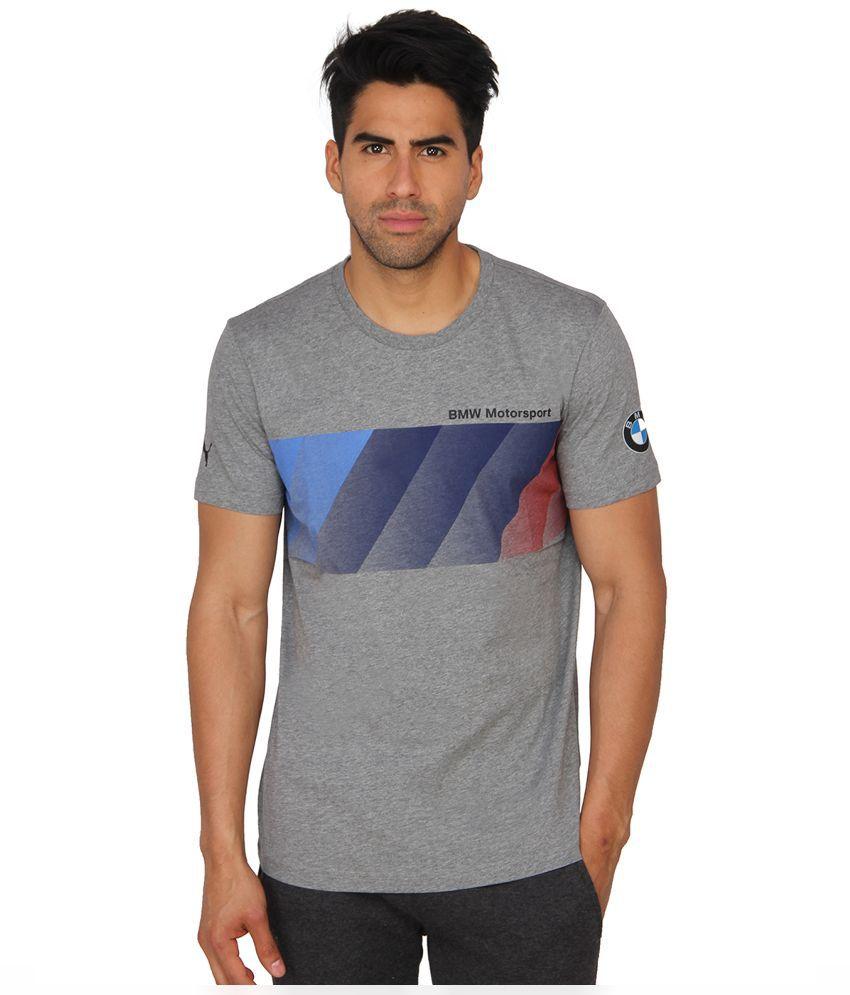 Puma Grey Round T Shirt