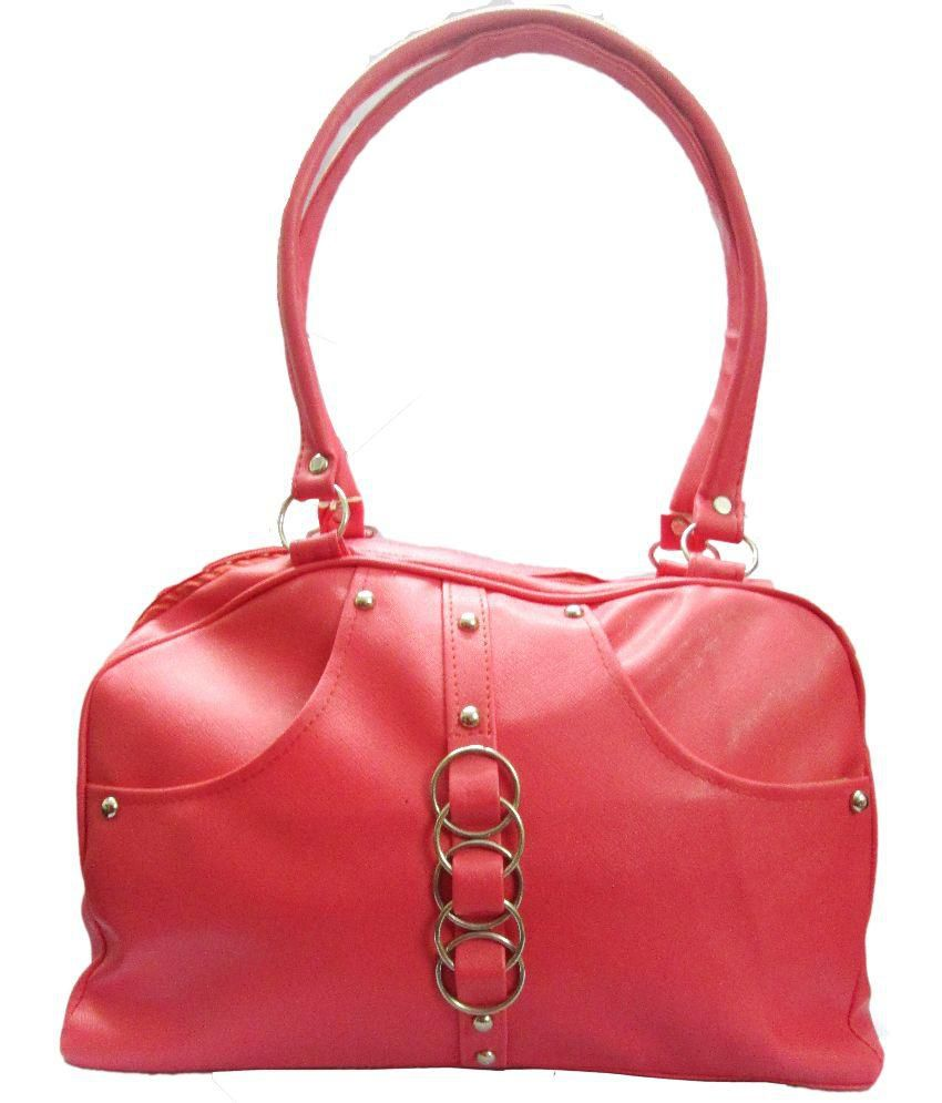 Shuban Fashions Red Fabric Shoulder Bag