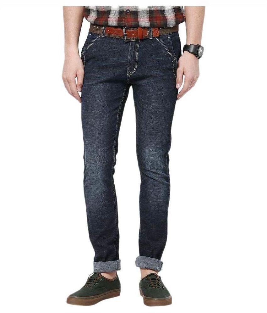 Skinny World Blue Skinny Fit Faded Jeans