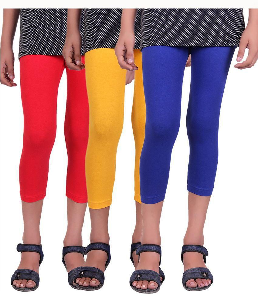 Alisha Multicolour Capri For Girls - Pack of 3