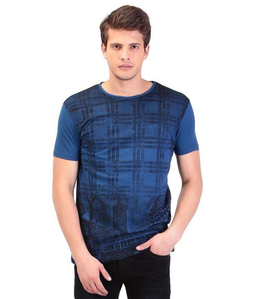 Tag 7 Blue Round T Shirt