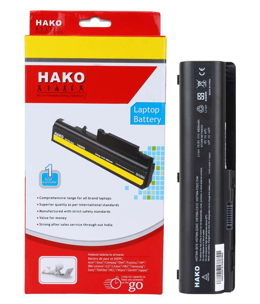Hako Hp Compaq Pavilion Dv6z-1000 6 Cell Laptop Battery