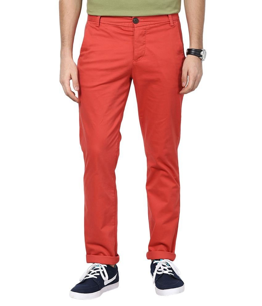 Jack & Jones Red Slim Fit Trousers