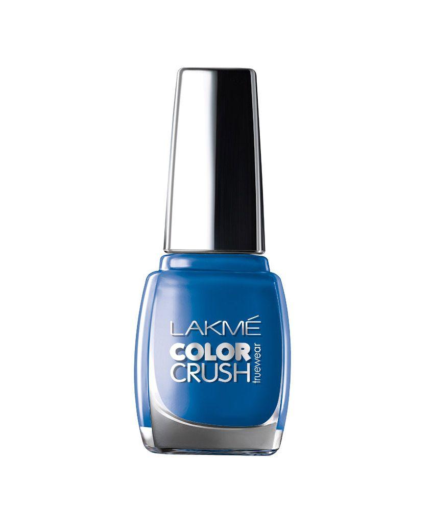 Gel Nail Polish Lakme: Lakme Color Crush True Wear 02 Nail Paint 9 Ml Pack Of 2