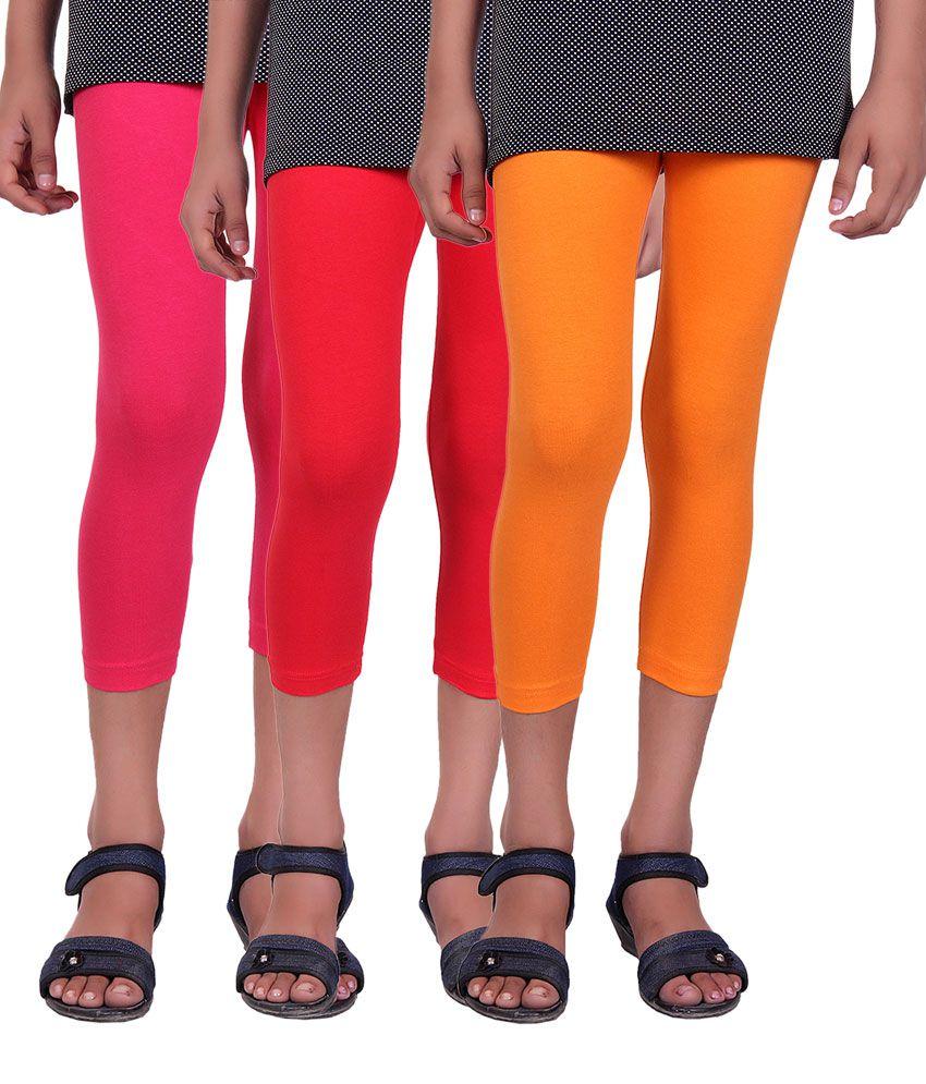 Alisha Multicolour Cotton Capris - Pack of 3