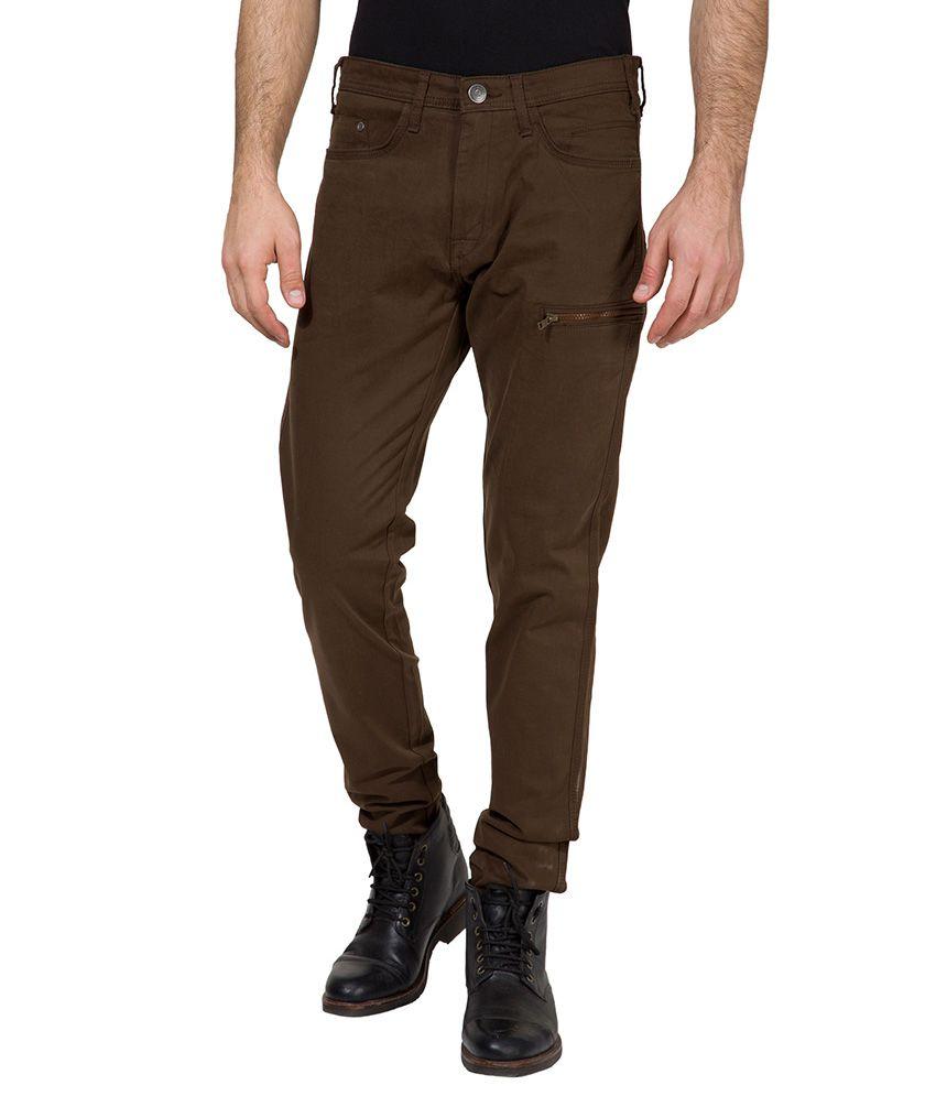 Locomotive Brown Slim Fit Trousers