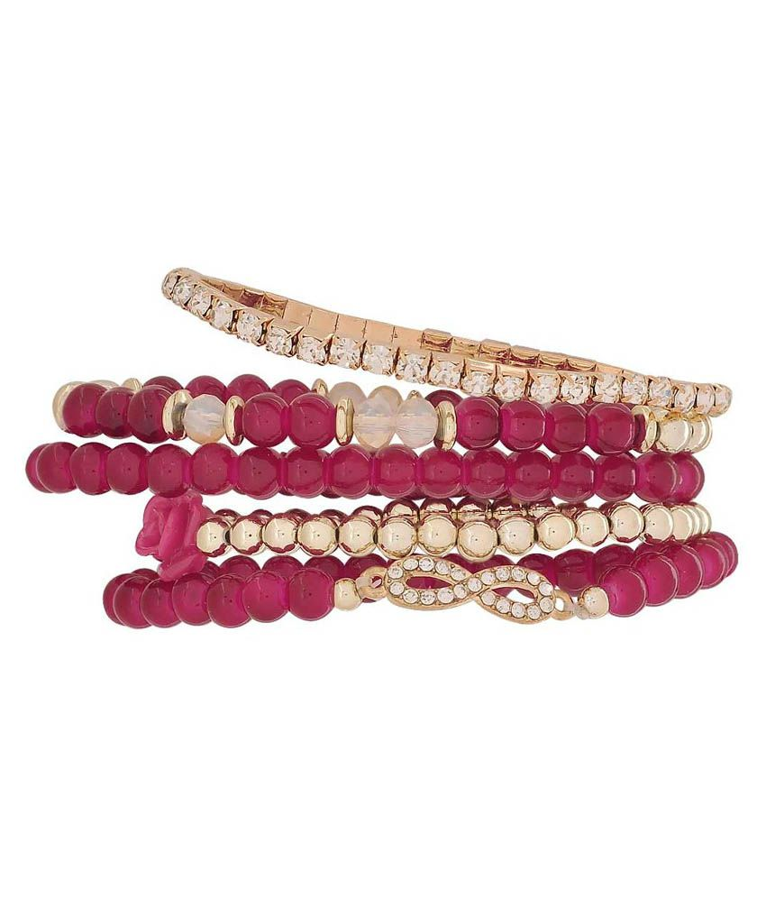 Maayra Pink and Golden Bracelet